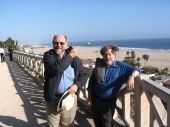 Mick Gidley and Ira Jacknis in Santa Monica during Getty symposium downtime (6.6.08) [BE]